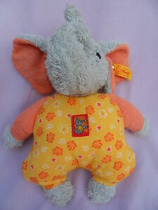 Steiff elephant elephant with button flag baby toy washable made in Germany b7