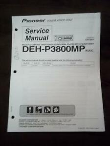 pioneer service manual for the deh p3800mp car stereo radio cd Wiring Circuits image is loading pioneer service manual for the deh p3800mp car