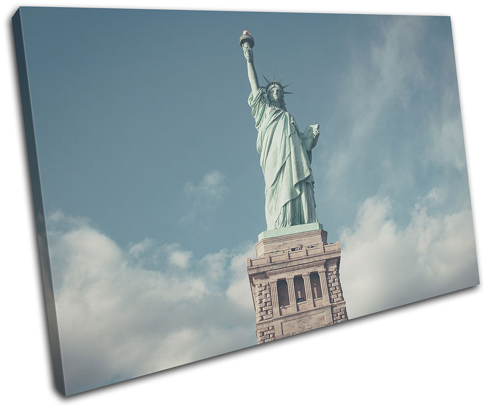 Statue of Liberty New York City SINGLE TELA parete parete parete arte foto stampa 06667d