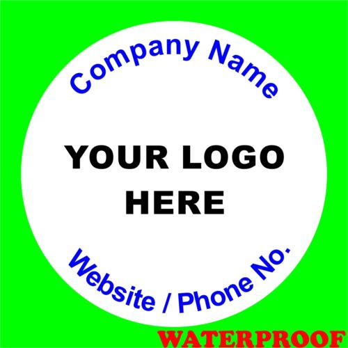Personalised Business Name Stickers Envelope Seals Your Logo Labels Thank You