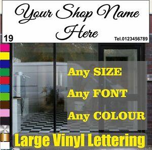 """98"""" X 23"""" Large Vinyle Lettrage Boutique Fascia Autocollante Graphics Signe écrit-afficher Le Titre D'origine"""