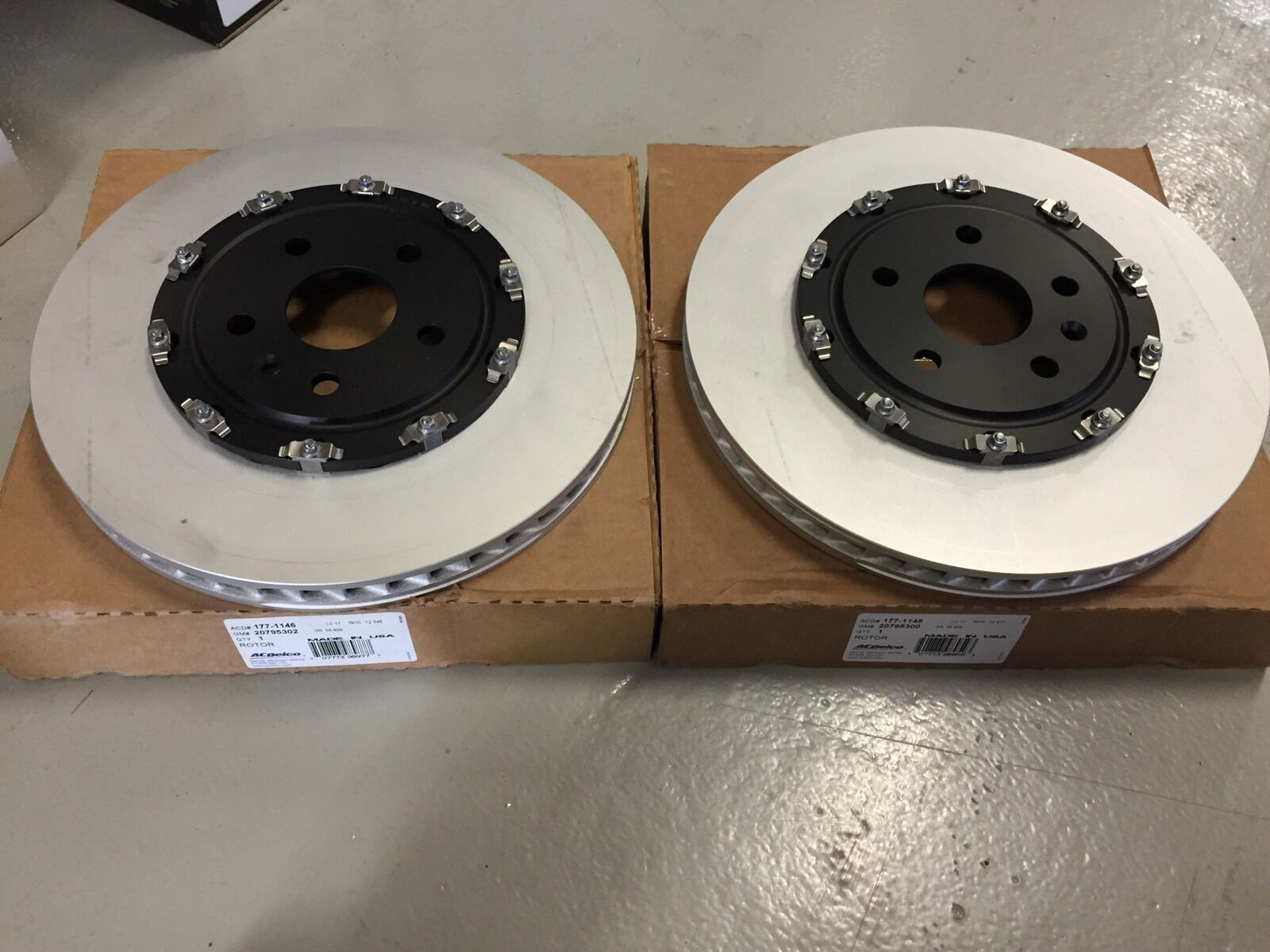 For Cadillac CTS 09-19 Chrome Brakes Drilled /& Slotted 1-Piece Rear Brake Rotors