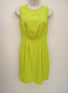 Atmosphere-Neon-Yellow-Silky-Feel-Sleeveless-Dress-size-8