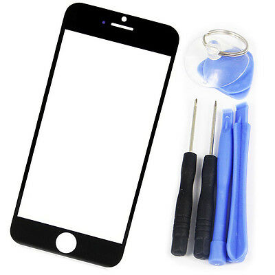 """Black Cover  Front Outer Screen Glass Replacement +Tools For Apple iPhone 6 4.7"""""""