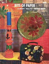 Aleene's BITS OF PAPER B50 Vintage 1967 Decoupage How To Create Booklet