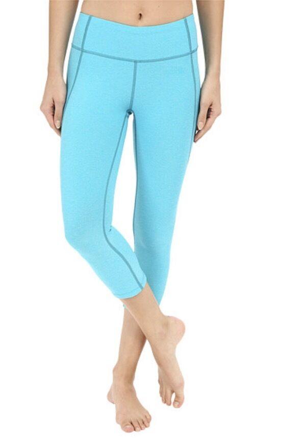 The North Face Motivation Workout Crop Leggings NWT blueebird Heather S P, XL