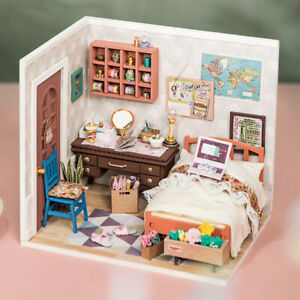 Rolife-DIY-Wooden-Dollhouse-Miniature-Bedroom-Kits-with-Led-light-Gift-for-Girls