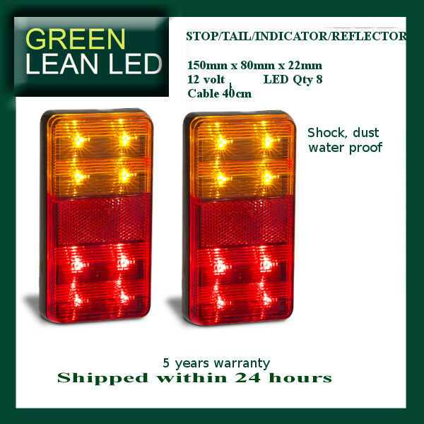 Trailer Tail STOP Light LED Lamp Indicator Submersible TOP QUALITY 12V 151 BAR