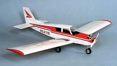 Herr Piper Cherokee Balsa Wood Model Scale RC Remote Control Airplane Kit  Hrr504