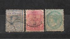 Australian States - NSW 3 Different Stamps Used