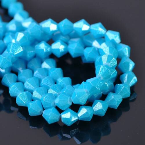 Wholesale 4mm 6mm 8mm Bicone Coated Bicone Faceted Opaque Glass Loose Beads