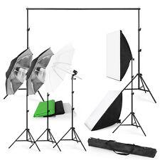 2017 Photo Studio Photography Kit 4 Light Bulb Umbrella Muslin 3Backdrop Stand T