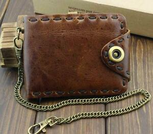 intage-Biker-Leather-Bifold-Snap-Wallet-With-Chain-for-Mens-or-Boys