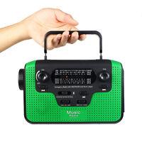 Hand Crank Fm/am/sw Radio Receiver Emergency Wireless Speaker Flashlight Dc 5v