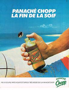 PUBLICITE-ADVERTISING-124-1981-CHOPP-le-panache-biere-limonade