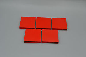 LEGO 5 x Piliers Pierre wandstein 1x6x5 Rouge Red wall brick 3754 4188910 							 							</span>