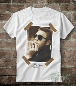 "T-SHIRT DONNA /""STEVE MCQUEEN RED KISS BACI /"" IDEA REGALO ROAD TO HAPPINESS"