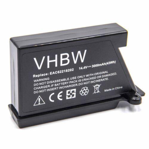 Batterie 3000mAh Li-Ion pour LG Hom-Bot EAC62218202,EAC60766102,EAC60766101