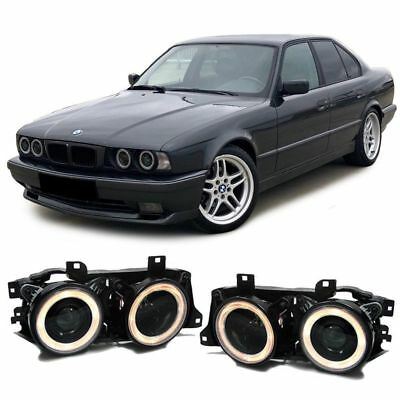 SMOKED PROJECTOR HEADLIGHTS HEADLAMPS FOR BMW E34 5 SERIES /& E32 7 SERIES