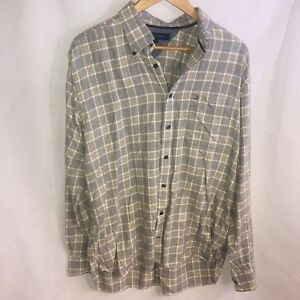 62fb9308a Image is loading Vintage-Tommy-Hilfiger-Mens-L-Flannel-Long-Sleeve-