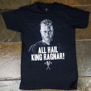 02ce6b2d Details about SPIRAL Direct Unisex T Shirt Vikings TV Series Ragnar FACE