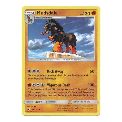 078//147 Mudsdale POKEMON SUN /& MOON—BURNING SHADOWS