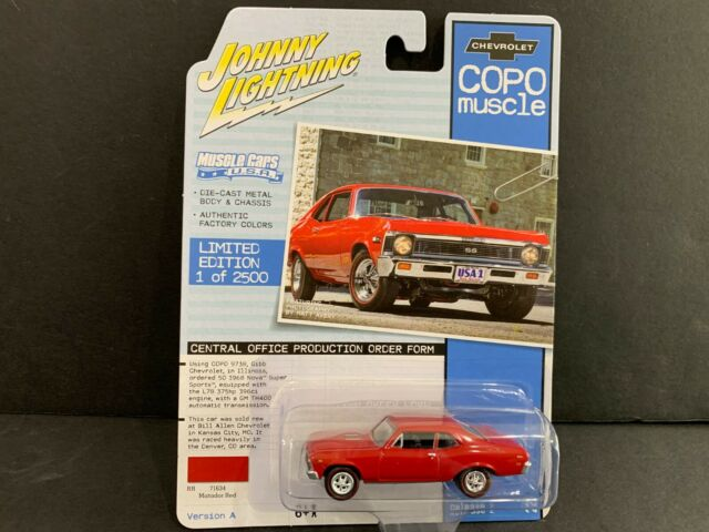 Chevy Impala  1968  rot  JOHNNY LIGHTNING  1:64  OVP  NEU