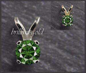 Brillant-Anhaenger-aus-585-Gold-Diamant-Gruen-mit-0-20-ct-Weissgold-Gelbgold