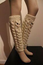Spring SALE Owl leg warmers boot cuffs ballet dance by IrinaKdesigns