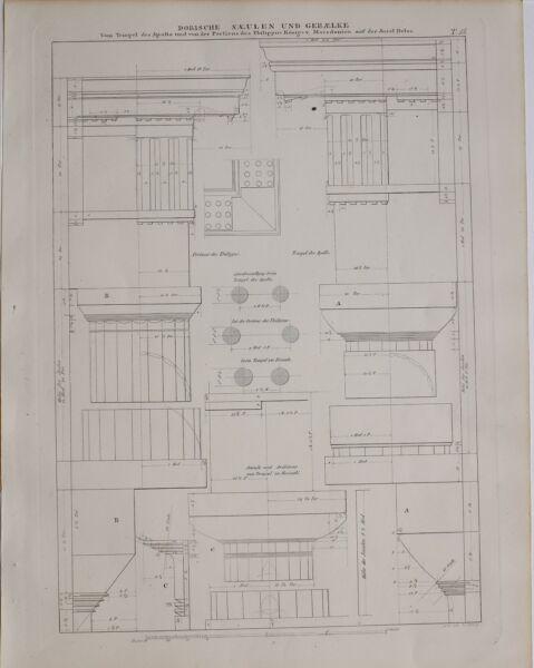 FäHig 1896 Klassische Architektur Aufdruck Architektur Doric Order Apollo Mazedonien