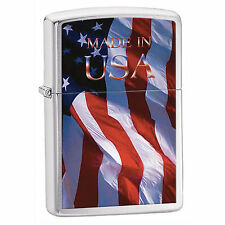 Zippo Windproof American Flag Lighter Made in USA 24797