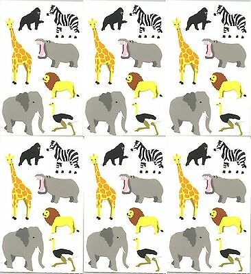 4 Stickers Photo Real Grossman/'s Wild Animal Stickers Zebra Mrs 1 Strip