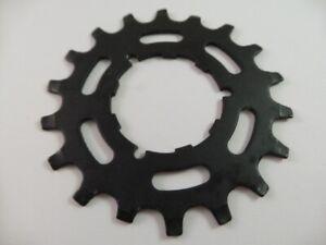 Black Shimano NOS Bicycle Cassette 18T Uniglide Cog