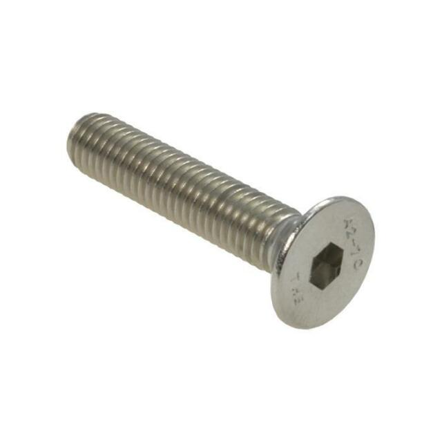 Qty 1 Countersunk Head Socket M8 (8mm) x 80mm Stainless Screw 304 CSK Flat