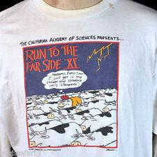The Far Side SF Run Race 1995 Cow Herd Long Sleeve T-Shirt XL Gary Larson USA