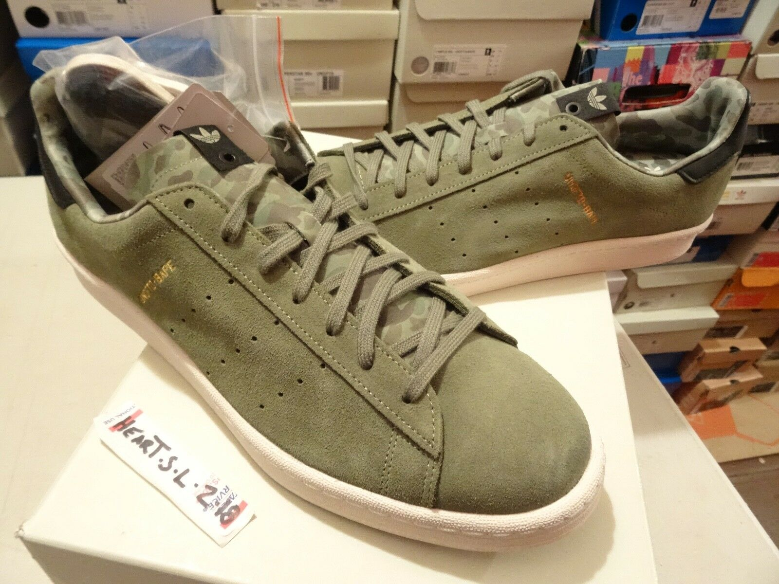 NEW DS Adidas x Undefeated x Bape Campus 80s A Bathing Ape Olive G95033 SZ 13.5