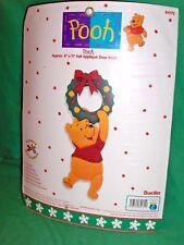 Disney Bucilla Pooh Felt Applique Embroidery Kit Christmas Door Knob ...