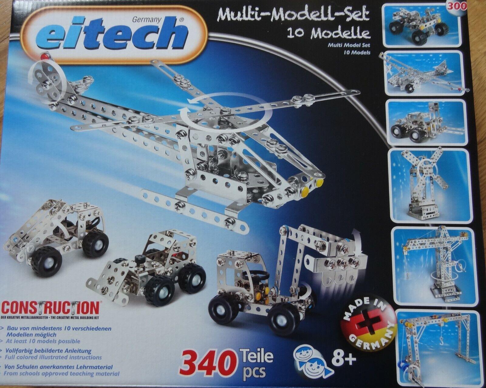 Multi Model Set Eitech 10 Model Metal Construction Building Set C300