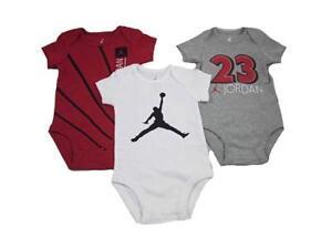 Air Jordan 3 pack Baby Bodysuit Romper [Varies style/Sizes 0-6, 6-9, 9-12 M]