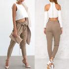 Décontractés Pour Dames Bureau Travail Taille Haute Bouffant Pantalon Sarouel