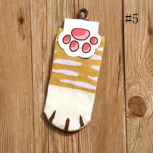 Kawaii Cartoon Cats Paw Kitty Claws Ankle Short Socks For WomensGirlsSummer*`