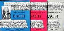 Bach Orgelbüchlein Gaston Litaize 3 x 25 cm Ducretet-Thomson LP & CV EX