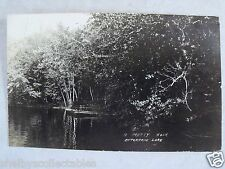 RPPC WI ENTERPRISE LAKE, A PRETTY NOOK. PM ELCHO,WIS AUG1920 REAL PHOTO POSTCARD