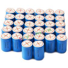 32x Ni-Mh 4/5 SubC Sub C 1.2V 2800mAh Batería recargable con Tab Azul