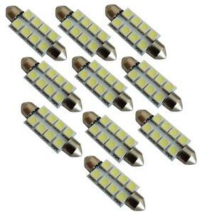 10x-ampoule-veilleuses-C5W-12V-8LED-blanc-effet-xenon-41mm-eclairage-interieur