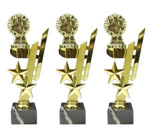 3er-Serie Hundesport/Pfote-Pokale (Sternenhalter) mit Ihrer Wunschgravur