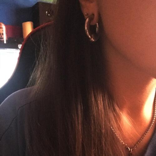 Pair Big Size Stainless Steel Captive Bead Hoop PA Ring  Lobe Tragus piercing