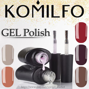KOMILFO-1-320-Gel-Nail-Polish-AUTUMN-Collection-Series-Color-Milky-Red-Glitter