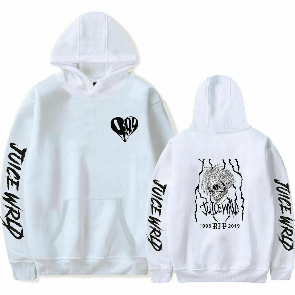 Juice Wrld Printed Hoodie Casual Sweatshirt Hooded Cotton Pullover Outwear XPD79