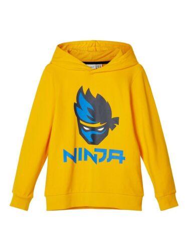 Name It Capuche Sweatshirt nkmask ninja jaune taille 122//128 à 158//164